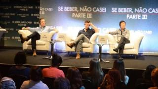 Elenco de Se Beber, Não Case! Parte III lança filme em coletiva no Rio de Janeiro