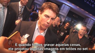Tom Cruise e atrizes de Oblivion lançam o filme no Brasil