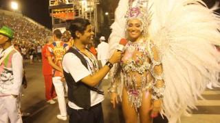 Carnaval 2014: Alessandra Mattos, rainha de bateria da Curicica na concentração