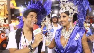 Carnaval 2014: Aline Riscado, rainha de bateria da Caprichosos de Pilares