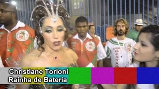 Carnaval 2014: Christiane Torloni, Rainha de Bateria, fala sobre fantasia na concentração