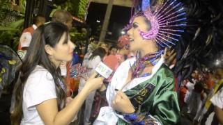 Carnaval 2014: Dani Albuquerque desfila como destaque na sua estreia no carnaval do Rio