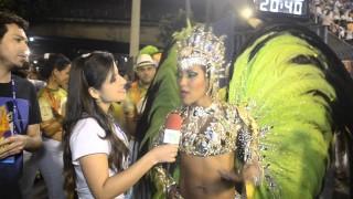 Carnaval 2014: Laynara Teles pronta para estrear no Grupo Especial com o Império da Tijuca