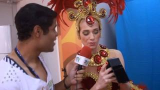 Carnaval 2014: Leticia Spiller na concentração da União da Ilha