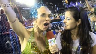 Carnaval 2014: Letícia Spiller no camarote do Porcão