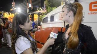 Carnaval 2014: Marina Ruy Barbosa na concentração da Grande Rio