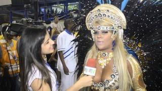Carnaval 2014: Mulher Filé comemora aniversário na Sapucaí