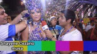 Carnaval 2014: Shayene Cezário é confundida com Patrícia Nery, rainha de bateria da Portela