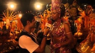 Carnaval 2014: Veronice Abreu fala de sua emoção em desfilar no carnaval do Rio.