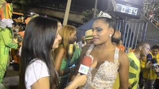 Carnaval 2014:Quitéria Chagas rainha do Império Serrano emocionada na concentração