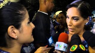 Carnaval Plus TV 2015 || Gloria Pires na Concentração da Portela