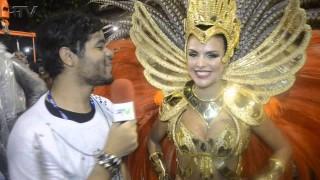 Carnaval Plus TV 2015 || – Paloma Bernardi comenta sobre posto de rainha de bateria da Grande Rio